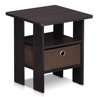 Kenton Petite End Table Color: Dark Walnut
