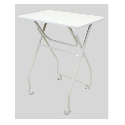 Folding Multipurpose Personal TV Tray Table Finish: White/Grey