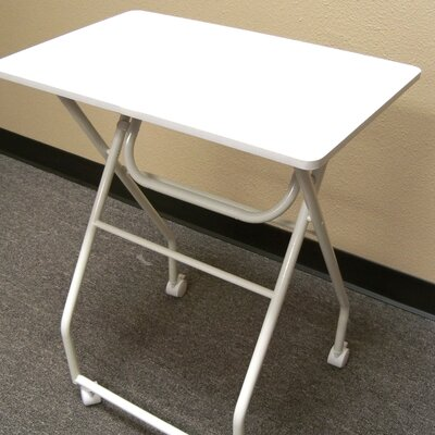 Folding Multipurpose Personal TV Tray Table Finish: White/White