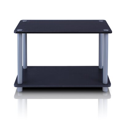 Turn n Tube 2 Tier Storage Shelving Unit Color: Black and Grey