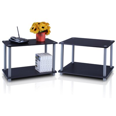 Turn n Tube 2 Tier Shelves/End Table Color: Black