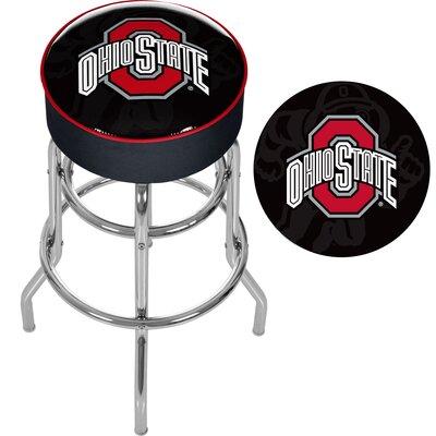 NCAA 31 Swivel Bar Stool NCAA Team: Ohio State University - Faded Brutus