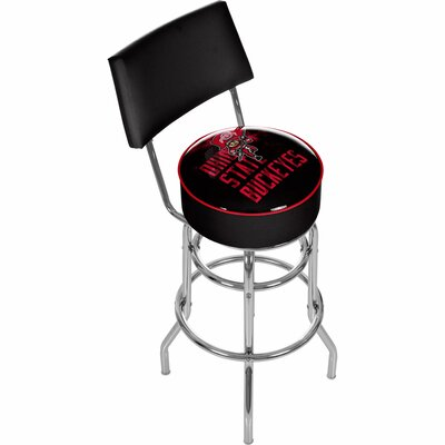 31 Swivel Bar Stool NCAA Team: Ohio State University - Smoking Brutus