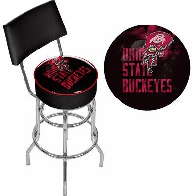 31 Swivel Bar Stool NCAA Team: Ohio State University - Smoking Brutus