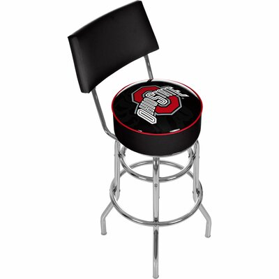 31 Swivel Bar Stool NCAA Team: Ohio State University - Main Logo