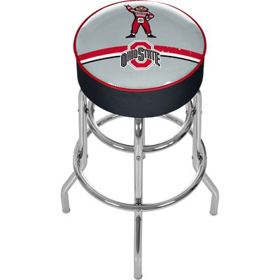 NCAA 31 Swivel Bar Stool NCAA Team: Ohio State University - Brutus Stripe