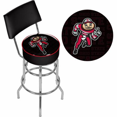 31 Swivel Bar Stool NCAA Team: Ohio State University - Brutus Dash
