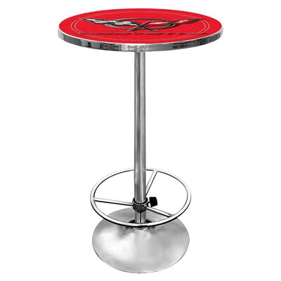 Corvette C5 Adjustable Pub Table Finish: Red