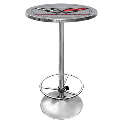 Corvette C5 Adjustable Pub Table Color: Silver
