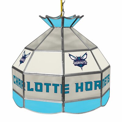1-Light Tiffany Vanity Light NBA Team: Charlotte Hornets