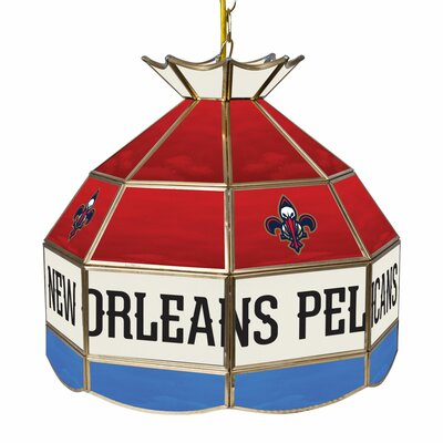1-Light Tiffany Vanity Light NBA Team: New Orleans Pelicans