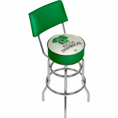 Vault of American Football 31 Swivel Bar Stool NFL Team: Boston Shamrocks