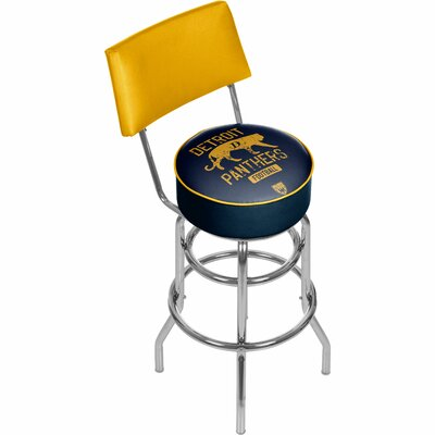 Vault of American Football 31 inch Swivel Bar Stool NFL Team: Detroit Panthers