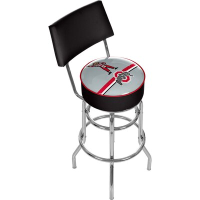 31 Swivel Bar Stool NCAA Team: Ohio State University - Brutus Stripe
