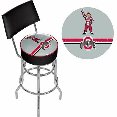 31 inch Swivel Bar Stool NCAA Team: Ohio State University - Brutus Stripe