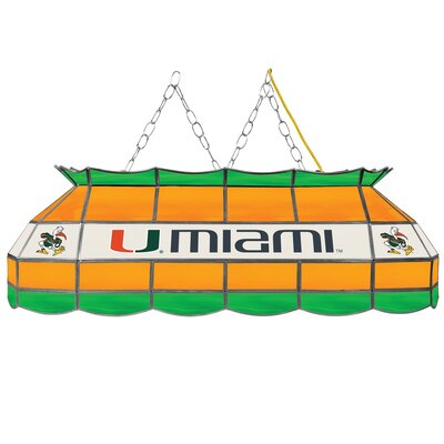 University of Miami 3-Light Pool Table Light