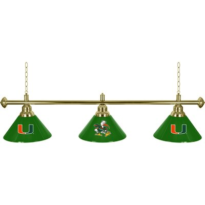 University of Miami 3-Light Billiard Light