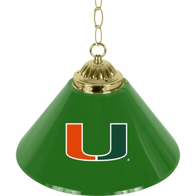 1-Light Pendant NCAA Team: University of Miami