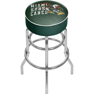 31 inch Swivel Bar Stool NCAA Team: University of Miami