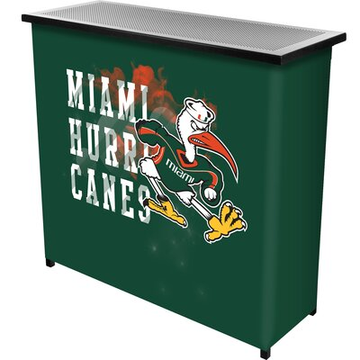Portable Bar NCAA Team: University of Miami