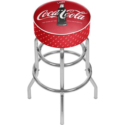 Coca Cola 31 Swivel Bar Stool Upholstery: Red/black