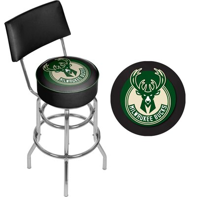 31 inch Swivel Bar Stool NBA Team: Milwaukee Bucks
