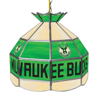 1-Light Tiffany Vanity Light NBA Team: Milwaukee Bucks