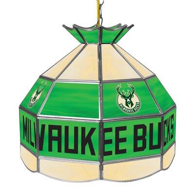 1-Light Tiffany Vanity Light NBA Team: Milwaukee Bucks