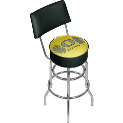 University of Oregon 31 Swivel Bar Stool Logo: Wings