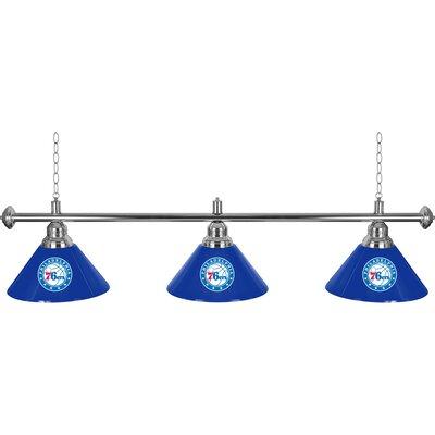 NBA 3-Light Billiard Light NBA Team: Philadelphia 76ers