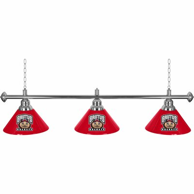 Ohio State University 3-Light Billiard Light