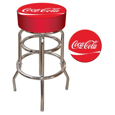Coca Cola 31 Swivel Bar Stool Upholstery: Red