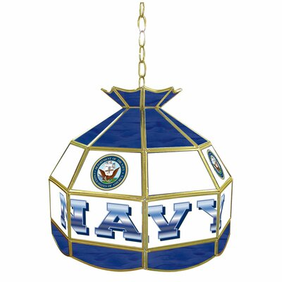 United States Navy Stained Glass Tiffany Lamp