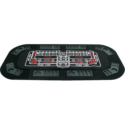 3 in 1 Poker/Craps/Roulette Tri Fold Table Top 10-18300