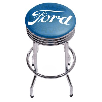 29 inch Swivel Bar Stool Finish: Chrome