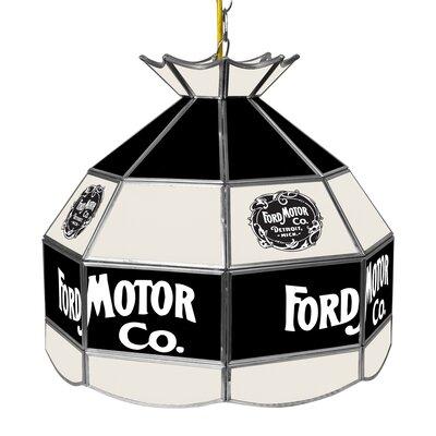 Vintage 1903 Ford 1-Light Bowl Pendant