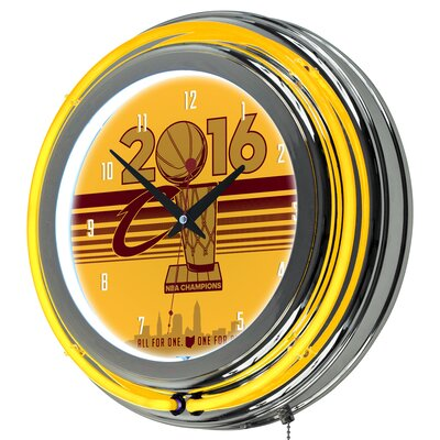 "NBA Cleveland Cavaliers 2016 Champions 14.5"" Wall Clock NBA1400-CC-C16"