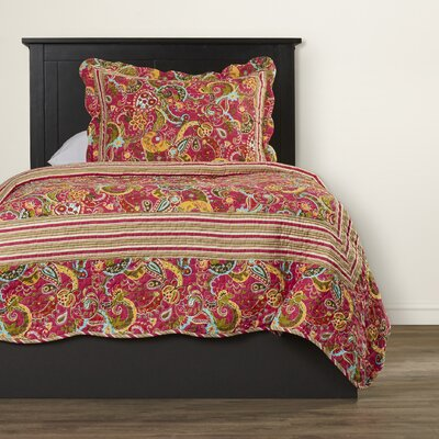 Paisley 3 Piece Coverlet Set Size: Twin