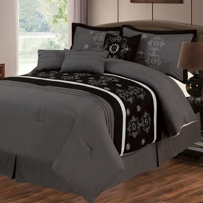 Julia 7 Piece Comforter Set Size: King