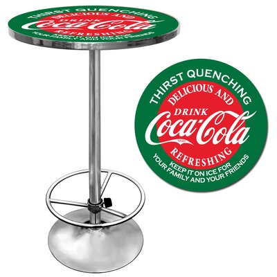 No credit financing Coca Cola Pub Table in Red and Gree...