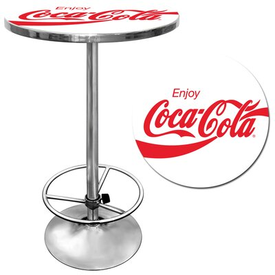In store financing Enjoy Coke Pub Table in White...