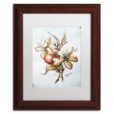 "'Coffee Flower and Bean' by Wendra Framed Painting Print Size: 20"" H x 16"" W x 0.5"" D, Matte Color: White WL034-W1620MF"
