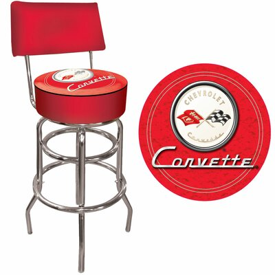 31 Swivel Bar Stool Upholstery: Red on Red