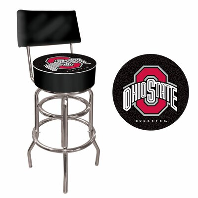 31 Swivel Bar Stool NCAA Team: Ohio State - Black
