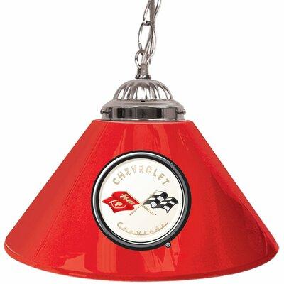 Corvette C1 14 Single Shade Bar Lamp in Red