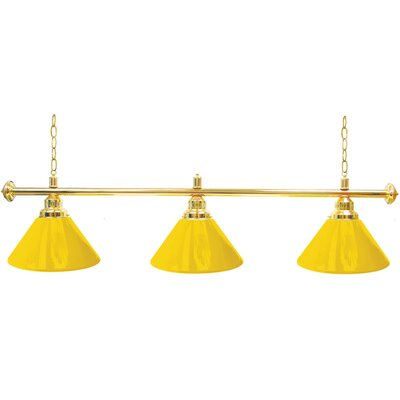 Premium 3-Light Billiard Light Finish: Gold, Shade Color: Yellow