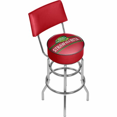 Bud Light Straw-Ber-Rita Swivel Bar Stool with Back