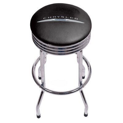 Chrysler Ribbed 28.5 Swivel Bar Stool Finish: Chrome