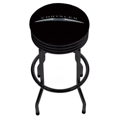 "Chrysler Ribbed 28.5"" Swivel Bar Stool Finish: Black CHR1006-LOGO"