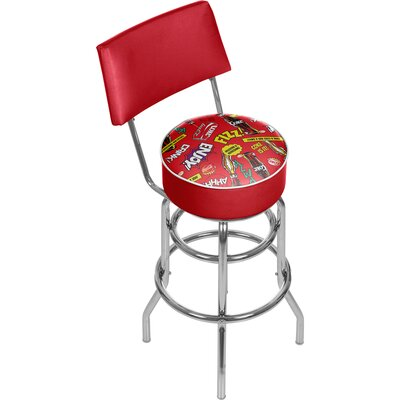 Coca Cola Pop Art 31 Swivel Bar Stool